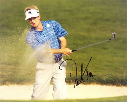 David Toms, signed 10x8 inch photo.